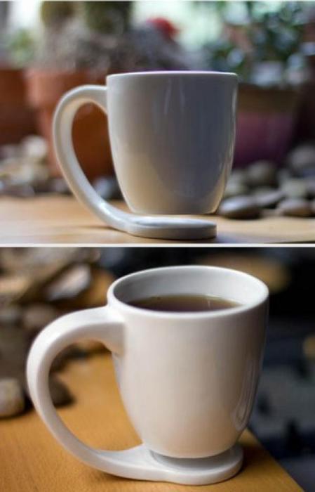 Подвешенная чашка, которая никогда не оставит отметин на столе.
