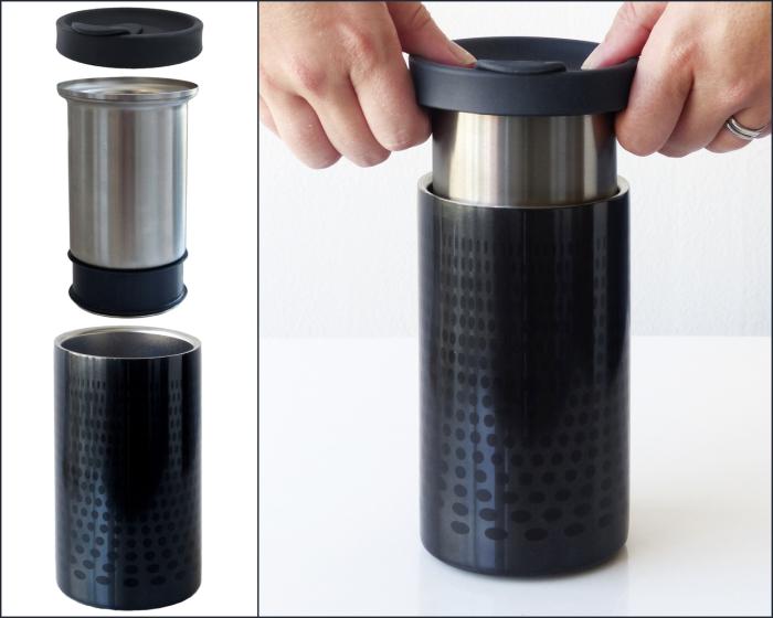 Термо-кружка, в которой напиток долго останется горячим.
