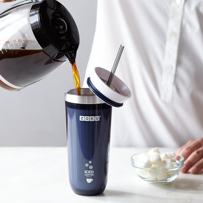 Кружка для мгновенного приготовления айс-кофе.