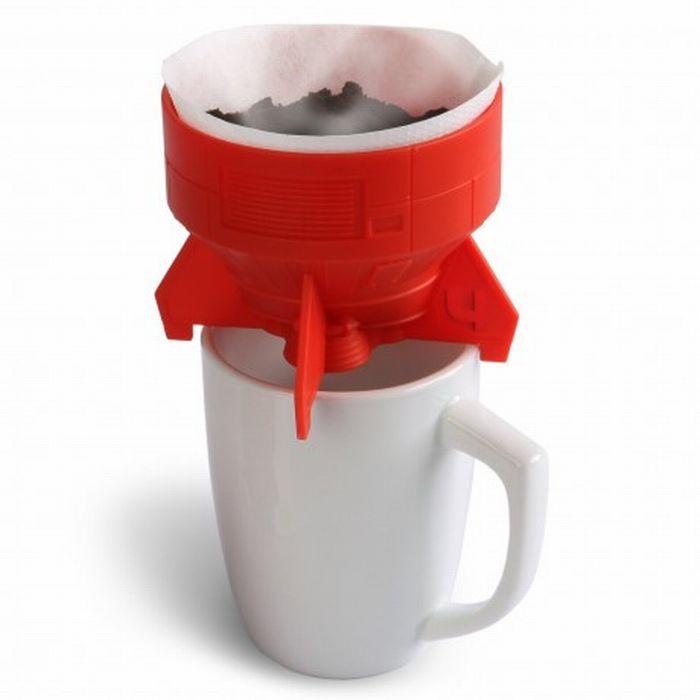 Подставка для бумажных фильтров для кофе в виде ракетных турбин.