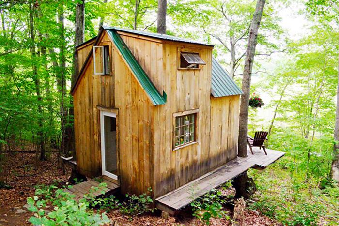 Оригінальна хатинка посеред лісу в США.