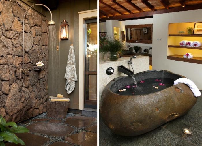 Примеры дизайна ванных комнат.