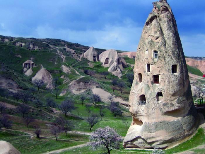 Необычные дома в Турции.