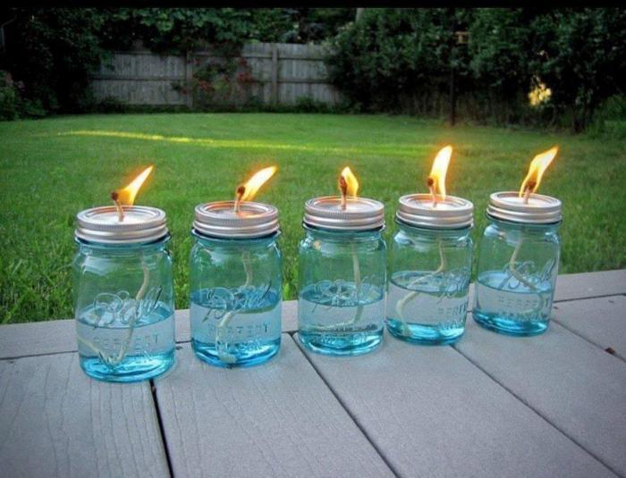 Необычные жидкие свечи.