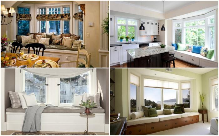 Уютные сидения у окна в каждой комнате дома или квартиры.