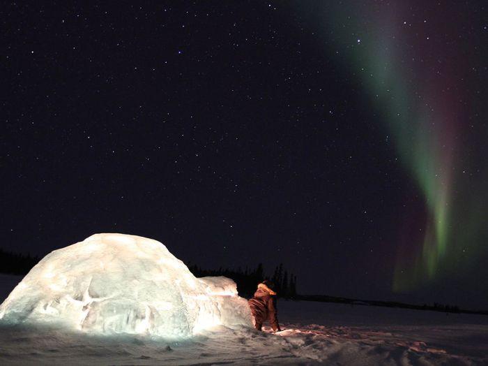 Иглу на северном полюсе.