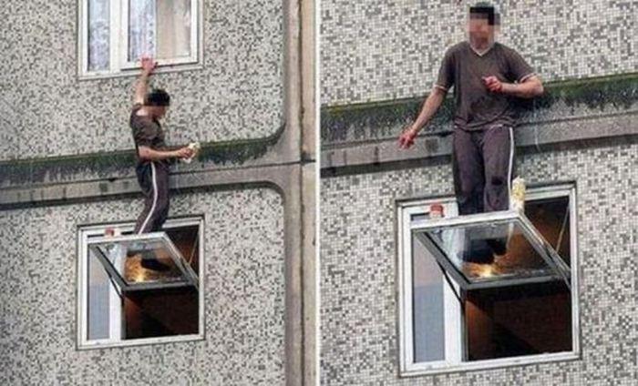 Перед покупкой окна всегда нужно проверить, выдержит ли оно своего владельца.