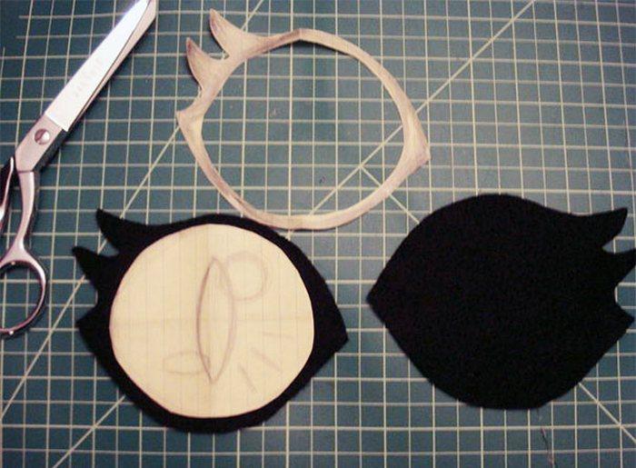 Заготовки глаз из ткани.
