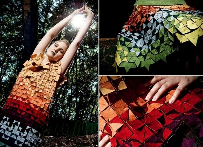 Фрагментированная одежда - новшество эко-моды.
