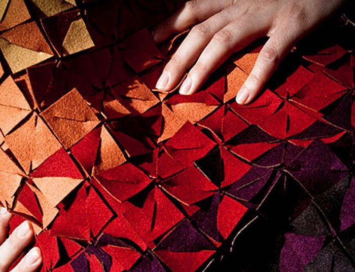 Войлочные детали фрагментированной одежды.