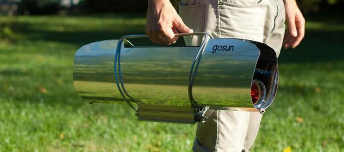 GoSun Solar Cooker: удобство в транспортировке.
