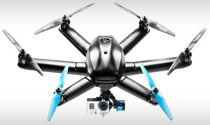 Беспилотный дрон HEXO+ для экстремальной съёмки.