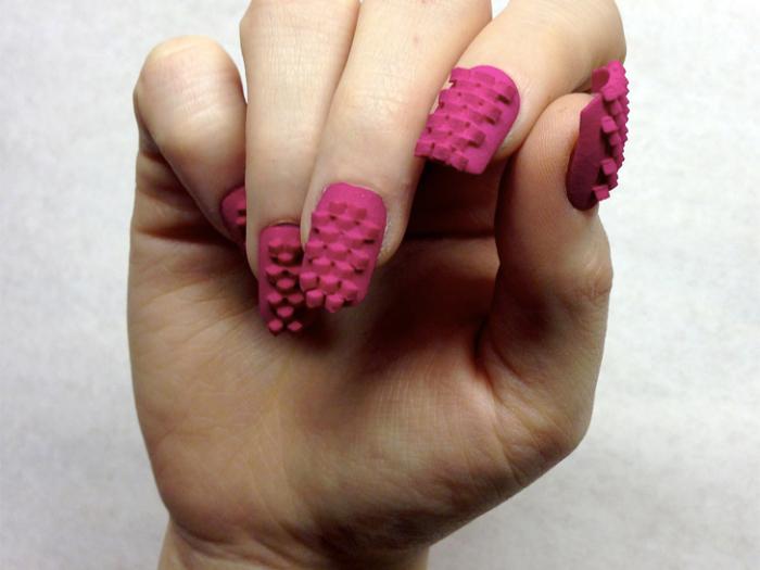 Laser Girl - ногти, отпечатанные на 3D-принтере.