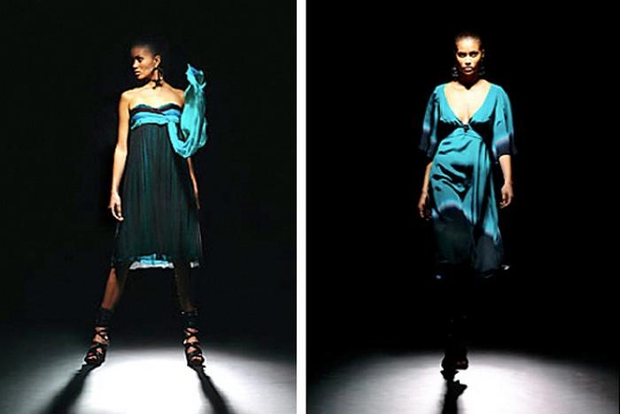Коллекция, вдохновлённая снимками NASAНеземные платья Leila Hafzi.