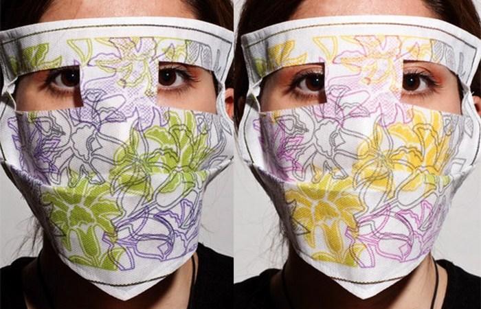 Медицинская маска из умного текстиля.