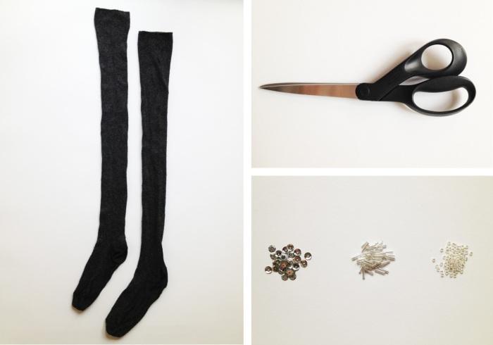 Всё, что нужно для превращения носков в митенки.