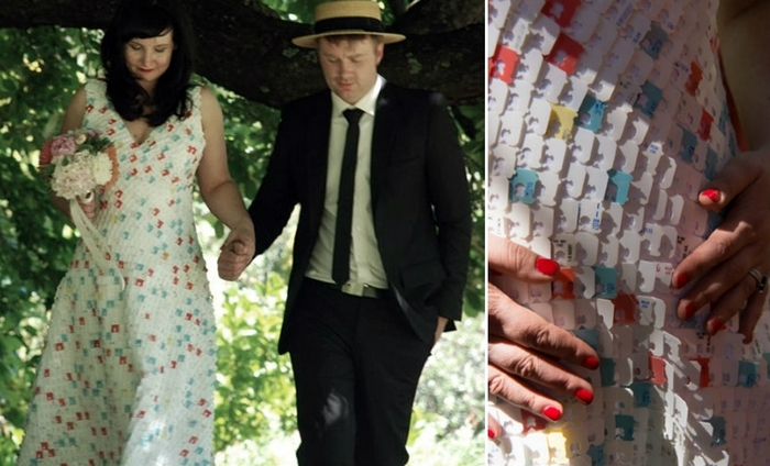 Необычное платье от Stephanie Watson.