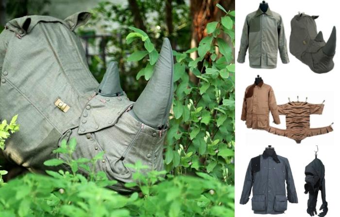 Куртки, которые превращаюся в силуэты животных