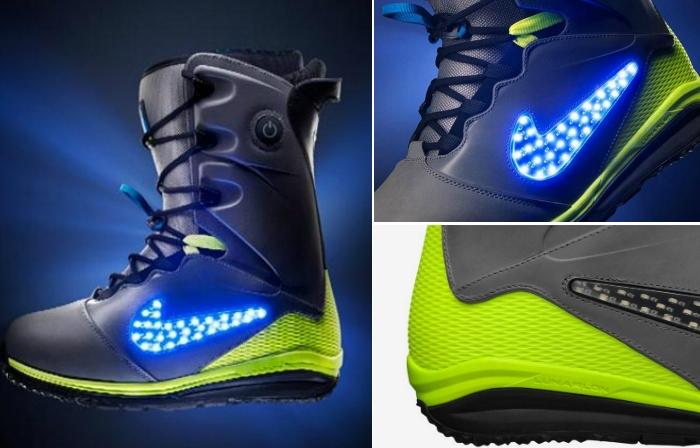 Индивидуально настраиваемые ботинки для сноубординга от Nike.