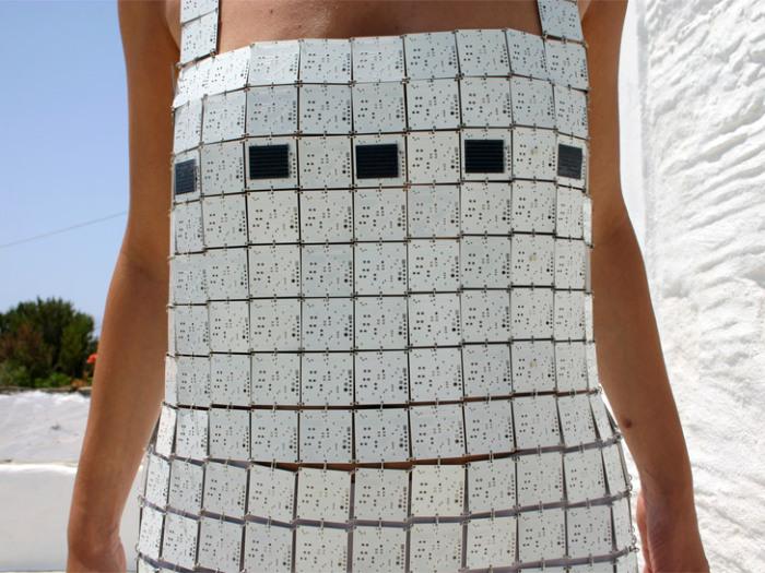 «Солнечное платье от Despina Papadopoulos.