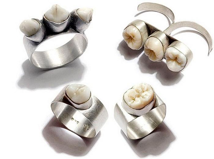 Коллекция Полли ван дер Глас: зубы в серебре.