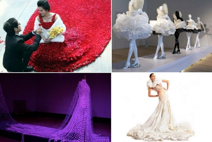 Оригинальныех экологичные свадебные платья.