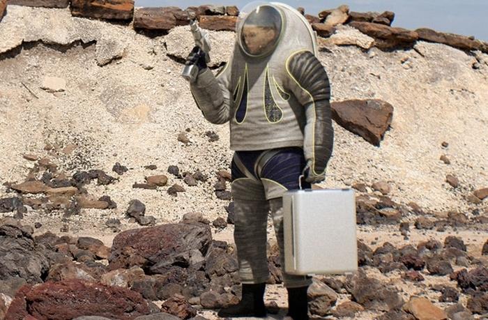 Прототип скафандра NASA для покорителей Марса.