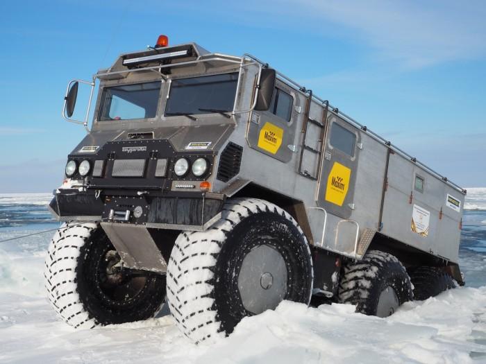Машина, которая покорила Северный полюс.