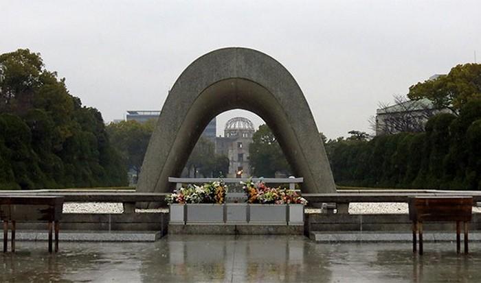 В 1964 году в Хиросиме зажгли Огонь мира.