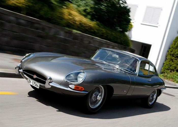 1961 Jaguar E-Type.