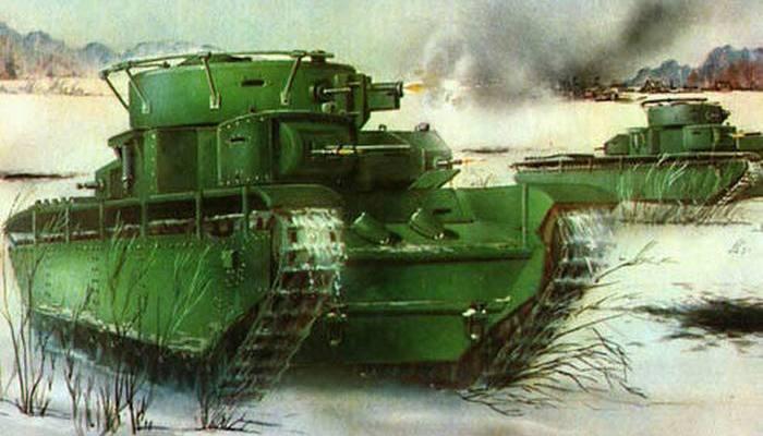 Тяжелый танк Т-35.