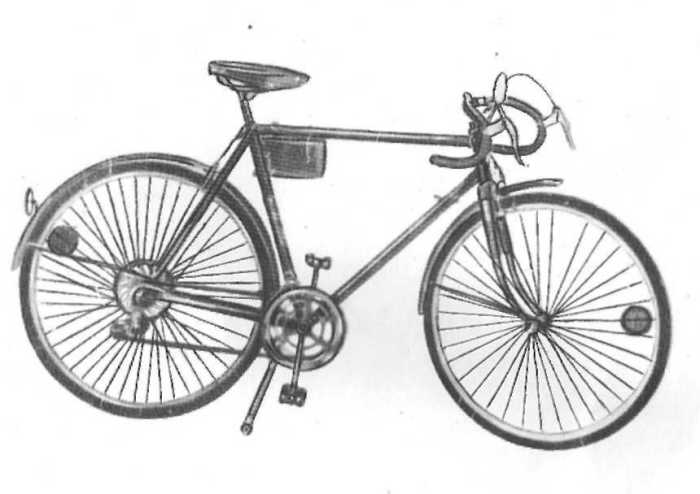 Почти современный велосипед.