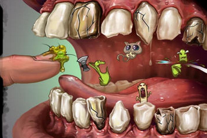 Чистка зубов и инфекции.