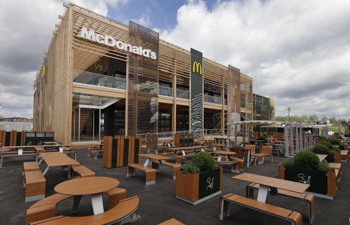 Лондонский McDonald's.