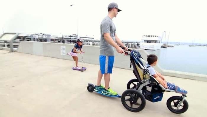 Скейтборд, который превратит коляску в самокат.