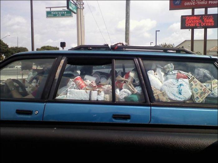 Не превращать авто в склад.
