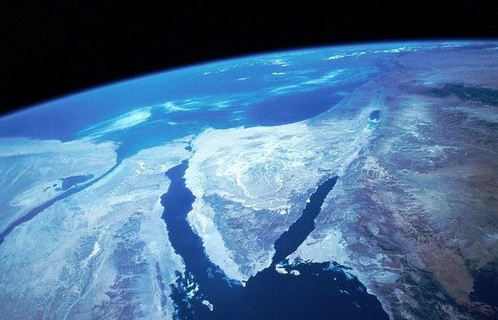 Интересный факт о Земле: Синайский полуостров из космоса.