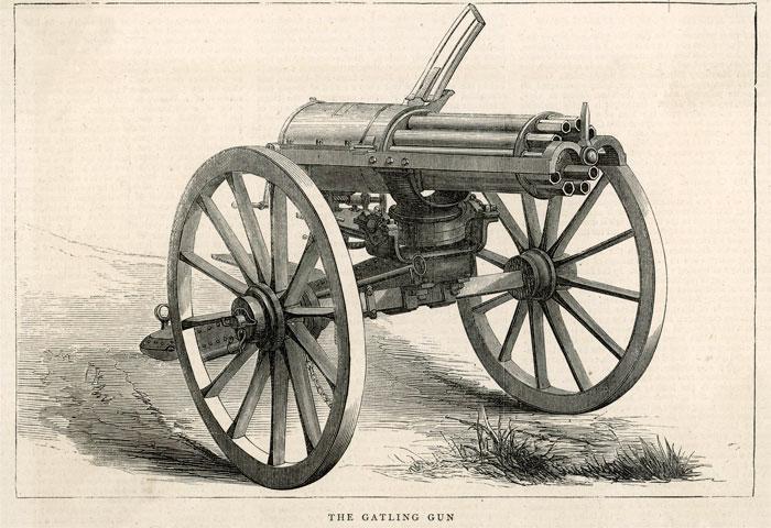 Пулемет Гатлинга.