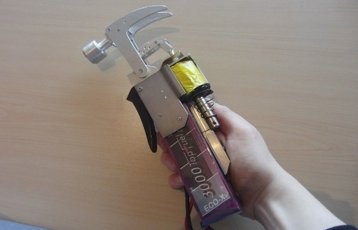 Homer Simpson's electric hammer.