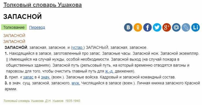 Выдержка из словаря. ¦Фото: ya.ru.