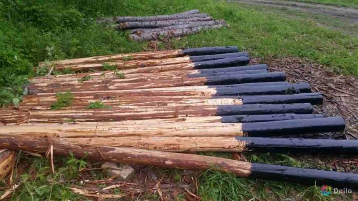 Пропитка деревянного столба важна. |Фото: zaborsebe.ru.