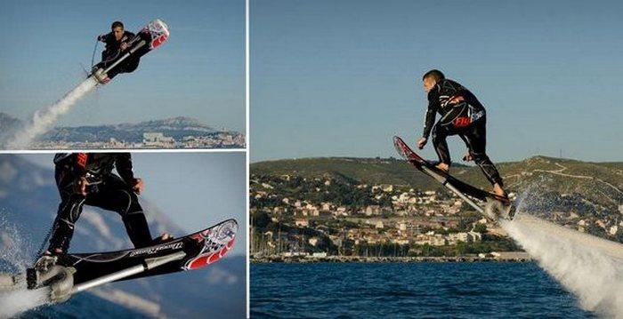 HoverBoard: трюки на высоте 5 метров над водой.