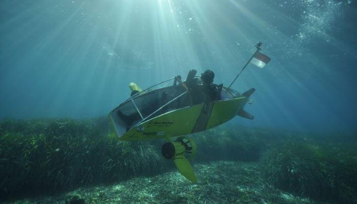 Scubster Nemo штурмует морские глубины.