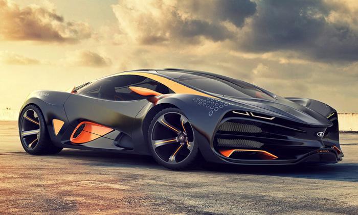 Футуристический концепт суперкара от компании АвтоВАЗ.
