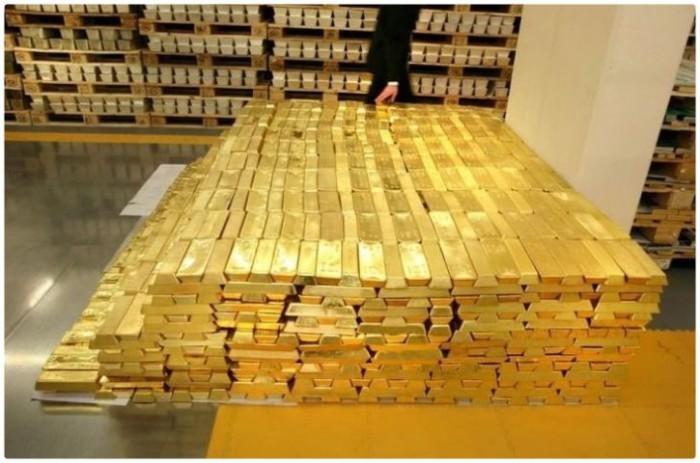 Самый большой запас золота в США.