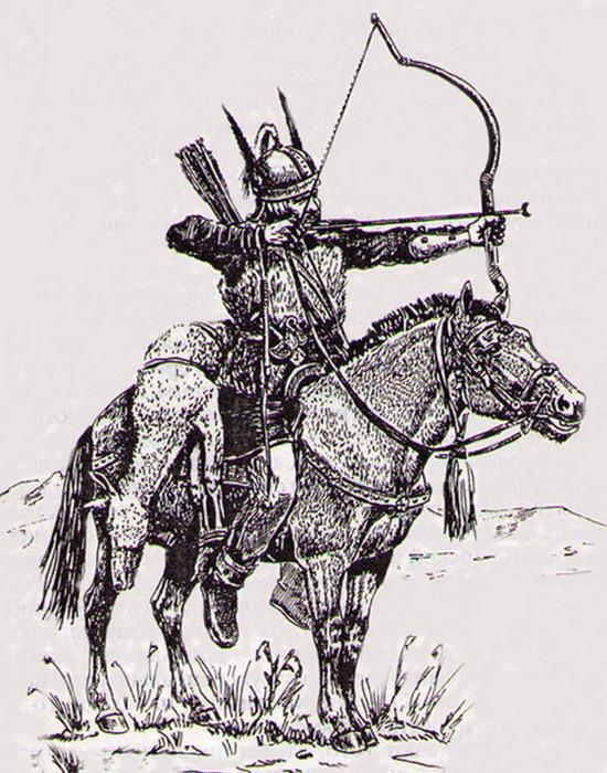 Гуннский конный лучник.
