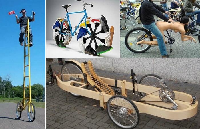 Самые необычные велосипеды.