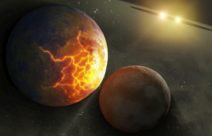Бинарная звездная система Т Компаса.