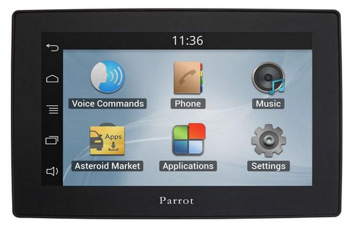 Автомобильный гаджет: навигатор Parrot Asteroid Tablet.