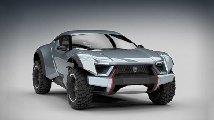 Этот автомобиль был создан для покорения пустыни.